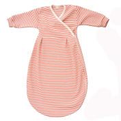 Organic Cotton Summer Baby Sleeping Bag-Coral Stripe-62/68 3-6m