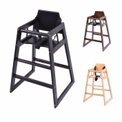 Costway Stackable Baby High Chair Toddler Highchair Wooden Feeding Seat Home Restaurants