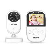 Premium Wireless Baby Monitor By ANNKE - Built-In Camera & Clear Two-Way Audio - Night Vision Mode - Encrypted WiFi Long Transmission Range - 6.1cm LCD Screen Controller Unit