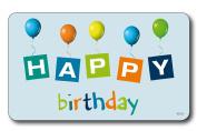 "Kesper 32308 Breakfast Board ""Happy birthday"" blue of melamine, Multicolor"