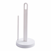 Huayoung Plastic White Paper Towel Holders Free Standing Detachable Wrap Holders