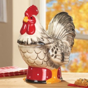Whimsical Rooster Country Kitchen Treats Cookie Jar Storage Canister