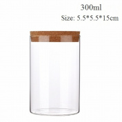 Huayoung Clear Glass Cookie Jar with Cork Microwave-safe Glass Biscuit Jar Multi-size Options