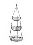 RSVP 3-Tier Chicken Wire Hanging Baskets