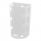 Saim Plastic Household Kitchen Self Adhesive Garbage Trash Bag Storage Holder Box White