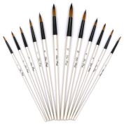 Wei BonD Art Paint Brush Set - Watercolour, Oil, Acrylic Paint/Craft, Nail, Face Paintng, etc