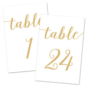4x6 Table Number Cards 1-24