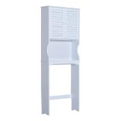 HomCom Over Toilet Storage Cabinet Space Saver - White