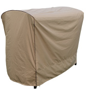 SORARA Swing Chair Cover Outdoor 3 Triple Seater Hammock Swing Glider Canopy Cover, All Weather Protection, Water Resistant, 200cm L x 140cm W x 180cm H