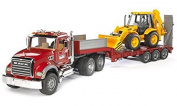MACK Flatbed Truck with Backhoe, Imaginative Toys, 2017 Christmas Toys