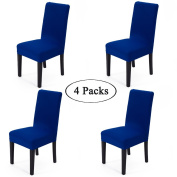 Spandex Fabric Stretch Removable Washable Dining Room Chair Cover Protector Seat Slipcovers Set Of 4