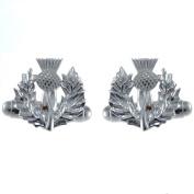 Sterling Silver Scottish Thistle Cufflinks