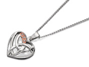 Clogau Womens 9ct Rose Gold And Silver Diamond Eternal Love Pendant And Chain