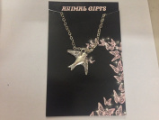 Tibetan Silver Dove/Bird Platinum Plated 46cm Chain Necklace Handmade VERY FINE DETAILS COMES WITH RETAIL PACKAGING CH11