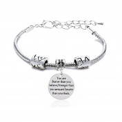 Adjustable Bangle You're Braver Stronger Smarter than you think Bracelet Family Friend Gift for Women Men