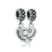 Uniqueen Mother Daughter Celtic Knot Set Charms Sale For Pandora/Troll/Chamilia Bead Bracelet