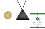 Triangle Shungite Pendant Necklace - . Authentic Highest Quality Russian Natural Healing Stone from Karelia with Radiation & EMF Protection, Chakra Balancing, Authentic Handmade Jewellery, Miracle Water Cleaning & Purification Stones