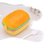 Creazy Kids Hamburger Bento Lunch Box Food Container Storage With Spoon