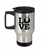Animal Lover Travel Mug - Love - Donkey Gift - 410ml Stainless Steel Coffee Cup