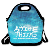 Waterproof Lunch Bag It's An Anime Thing You Wouldn't Understand With Zipper And Adjustable Strap Lunch Tote Box Hand Bag Picnic Boxes Travel Food and Meal Bags Backpack