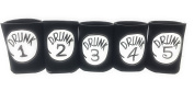"Funny Neoprene Can Koozie/Coolers ""Drunk 2.5cm - 13cm Set - Black"