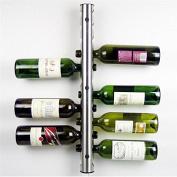 Polished Aluminium Wine Rack Bar Wall Mounted Kitchen Holder 12 Bottles
