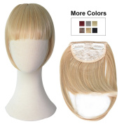 REECHO Fashion Full Length Synthetic One Piece Layered Clip in Hair Bangs / Fringe / Hair Extensions Colour - Deep Brown
