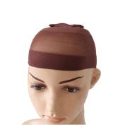 Unisex Stocking Wig Cap Snood Mesh Natural Brown Wig Caps