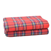 SatisInside Cosy Fleece Waterproof Picnic Blanket Camping/Beach Mat, Three-Layer, 130cm By 150cm , Red Checked
