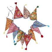 270cm Colourful Upcycled Fabric Garland String Decoration 'Onam Festival Garland'