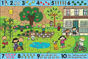Green Start Giant Floor Puzzle - Number Hunt, Teaching Toys, 2017 Christmas Toys