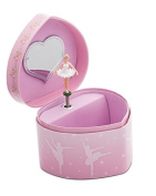 Girls Pink heart Shaped Ballet Dance Music Jewellery Box Chest Christmas Birthday Present By Katz Dancewear JB27