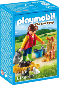 Playmobil 6139 Country Woman with Cat Family