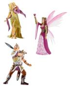 Bullyland Toy - Set of 3 Elf Figures - Princess Miriel - Queen Valaria - Elinias