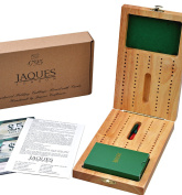 Hardwood Folding Cribbage Board with Luxury Playing Cards - Complete with Pins - Jaques of London