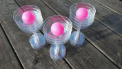Set of 3 Pink Ping Pong Balls - Ideal for Drinking Games such as Prosecco / Beer Pong