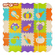 meiqicool Children Puzzle play Mat Colourful Soft Non Toxic Jigsaw Foam Floor Tiles and toys