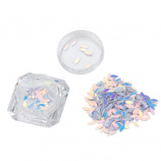 VESNIBA Colourful Nail Art Rhinestone Crystal Nail Glitter Manicure Decoration