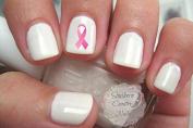 Pink Ribbons - Breast Cancer Awareness Ribbon BR102 Nail Decals