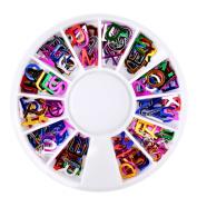 Nail Art ,Elaco Alphabet Dazzling Tips Nail Sticker Sequins Colourful Decoration DIY