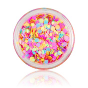 BONNIESTORE Nail Sequins 1mm-2mm Colourful Mini Round Thin Paillette Design Mixed Nail Art Glitter Decoration for Girls