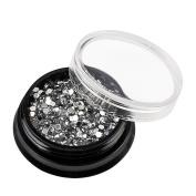 Elaco Nail Sticker Sequins Colourful Nail Art Decoration Diamonds Dazzling Tips