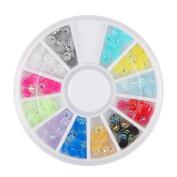 Charms Art Decor,Elaco Diamonds Dazzling Tips Nail Sticker Sequins Colourful Nail Art Decoration