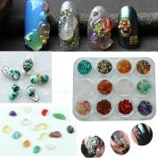 Elaco Nail Crystal Multicoloured Stone Small Component 3D Stone Nail Sticker Decoration
