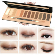 MLM Makeup Naked Eyeshadow Palette 12 Colour Natural Nude Matte Shimmer Glitter Pigment Eye Shadow Pallete Set Waterproof Smokey Professional Cosmetic Beauty Kit