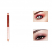 Double-headed Pearling Eyeshadow Pencil, Vinjeely Lie Silkworm Pen Durable Waterproof