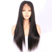 Full Lace Human Hair Wigs For Black Women 130% Density Pre Plucked Hairline With Baby Hair Straight Brazilian Remy Hair Wigs 25cm