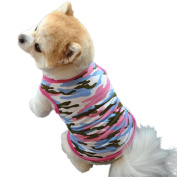 Pet Clothes,Haoricu Striped Cotton Stretch Vest Dog Pet Clothes for Small Coat Dog Vest