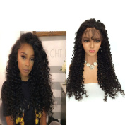 Nobel Hair Deep Curly Lace Front Wigs Human Hair with Baby Hair for Black Women Brazilian Virgin Human Hair Wigs Pre Plucked Hairline Glueless Lace Wigs 46cm