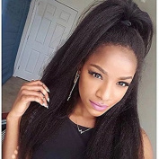 Ten Chopstics Italian Yaki Full Lace Human Hair Wigs for Black Women Glueless Lace Front Wig with Baby Hair Yaki Straight Brazilian Hair Lace Wigs